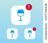 wine glass icon with...
