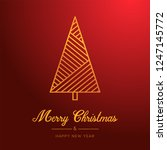red christmas background. merry ... | Shutterstock .eps vector #1247145772