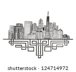 américa,estadounidense,arquitectura,negro,edificio,entidad emisora de certificados,ciudad,paisaje urbano,centro,alta,casa,ilustración,aislado,metrópoli,moderno