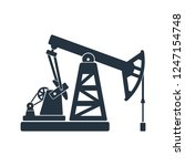 oil pump isolated icon on white ... | Shutterstock .eps vector #1247154748