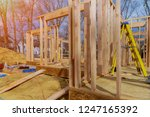 wooden framing of a home  full...   Shutterstock . vector #1247165392