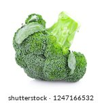 broccoli isolated on white... | Shutterstock . vector #1247166532