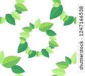 beauty leaf seemless parttern ... | Shutterstock .eps vector #1247166538