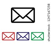 mail icon vector. email.... | Shutterstock .eps vector #1247167258