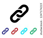 link icon vector. chain.... | Shutterstock .eps vector #1247174215