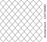 metal lattice. seamless vector. | Shutterstock .eps vector #124718482