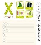 handwriting practice sheet.... | Shutterstock .eps vector #1247187148