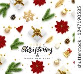christmas greeting card.... | Shutterstock .eps vector #1247190535