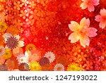 sakura japanese paper new year... | Shutterstock .eps vector #1247193022