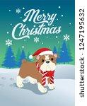 cute bulldog of christmas | Shutterstock .eps vector #1247195632