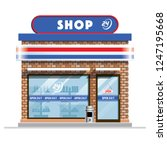 small convenience store | Shutterstock .eps vector #1247195668