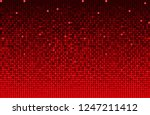 banner red sequins background.... | Shutterstock .eps vector #1247211412
