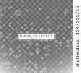 water bubbles effect template... | Shutterstock .eps vector #1247211715