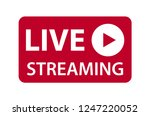 live streaming icon vector...