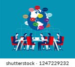 global chatting to through... | Shutterstock .eps vector #1247229232