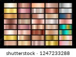luxury metallic  gradient... | Shutterstock .eps vector #1247233288