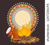 illustration of happy lohri... | Shutterstock .eps vector #1247236195