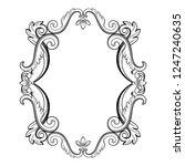 ornamental vintage frame in... | Shutterstock .eps vector #1247240635
