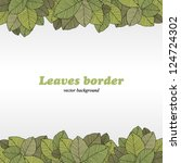 Borders of foliage - stock vector