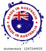 made in australia stamp. vector ...   Shutterstock .eps vector #1247244925