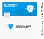 blue business logo template for ... | Shutterstock .eps vector #1247250325
