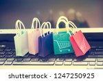 online shopping concept ...   Shutterstock . vector #1247250925