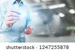 automation  industry 4.0  iot ...   Shutterstock . vector #1247255878