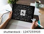 ai   artificial intelligence ... | Shutterstock . vector #1247255935