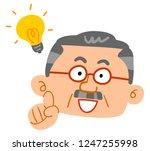 senior men flashing middle aged ... | Shutterstock .eps vector #1247255998