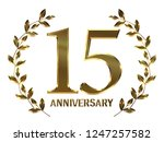 15th anniversary logo of... | Shutterstock . vector #1247257582