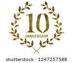 50th anniversary logo of... | Shutterstock . vector #1247257588