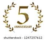 5th anniversary logo of... | Shutterstock . vector #1247257612