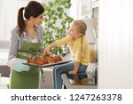 daughter and beautiful mother... | Shutterstock . vector #1247263378