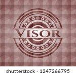 visor red emblem or badge with...