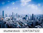 5g network wireless systems and ... | Shutterstock . vector #1247267122