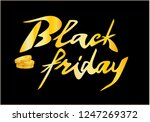 black friday sale banner vector ... | Shutterstock .eps vector #1247269372