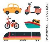 vehicle collection vector design | Shutterstock .eps vector #1247271658