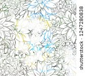 seamless sucullent pattern.... | Shutterstock .eps vector #1247280838