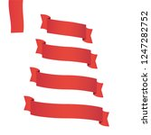 red web ribbon banners set.... | Shutterstock .eps vector #1247282752