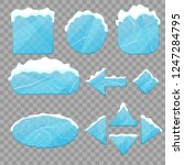 realistic 3d detailed ice... | Shutterstock .eps vector #1247284795