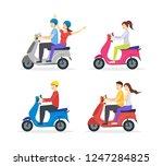 cartoon characters group of... | Shutterstock .eps vector #1247284825