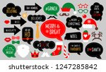 christmas photo booth props.... | Shutterstock . vector #1247285842