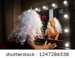 freaky young woman in unusual...   Shutterstock . vector #1247286538