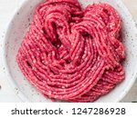 mince beef  ground meat with... | Shutterstock . vector #1247286928