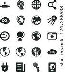 solid black vector icon set  ... | Shutterstock .eps vector #1247288938