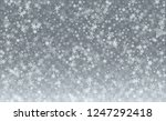 realistic snowflakes background.... | Shutterstock .eps vector #1247292418