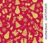 christmas theme seamless... | Shutterstock .eps vector #1247295235