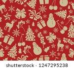 christmas theme seamless... | Shutterstock .eps vector #1247295238