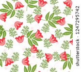 seamless pattern  flowers ... | Shutterstock .eps vector #1247295742