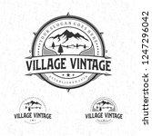 village vintage logo design | Shutterstock .eps vector #1247296042